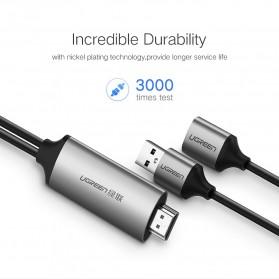 UGREEN Kabel USB to HDMI AV Adapter 1 Meter - CM151 - Black - 6
