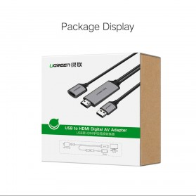 UGREEN Kabel USB to HDMI AV Adapter 1 Meter - CM151 - Black - 9
