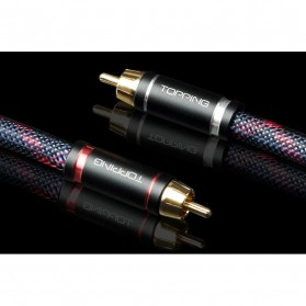 Topping TCR1 Kabel Audio Decoder Power Amplifier RCA Signal Cable 2 Meter - Black - 4