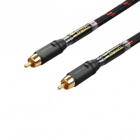 Topping TCR2 Kabel Audio Decoder Power Amplifier RCA Signal Cable 10cm - Black - 3