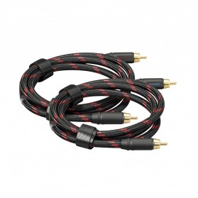 Topping TCR2 Kabel Audio Decoder Power Amplifier RCA Signal Cable 10cm - Black - 6