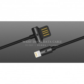 Remax Kabel Lightning Double Sided 1 Meter - RC-082i - Black - 2