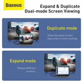 Baseus Kabel HDMI ke HDMI 2.0 Gold Plated 4K Laser Image Quality 2M - CAKGQ-B01 - Black - 9