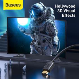 Baseus Kabel HDMI ke HDMI 2.0 Gold Plated 4K Laser Image Quality 3M - CAKGQ-C01 - Black - 5