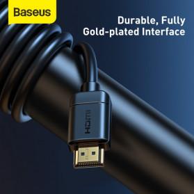 Baseus Kabel HDMI ke HDMI 2.0 Gold Plated 4K Laser Image Quality 3M - CAKGQ-C01 - Black - 6
