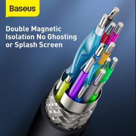 Baseus Kabel HDMI ke HDMI 2.0 Gold Plated 4K Laser Image Quality 3M - CAKGQ-C01 - Black - 7