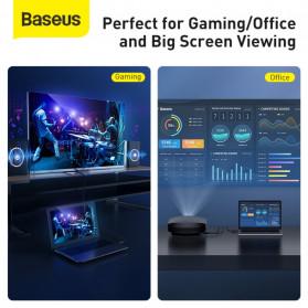 Baseus Kabel HDMI ke HDMI 2.0 Gold Plated 4K Laser Image Quality 3M - CAKGQ-C01 - Black - 8