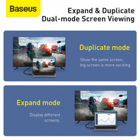 Baseus Kabel HDMI ke HDMI 2.0 Gold Plated 4K Laser Image Quality 3M - CAKGQ-C01 - Black - 9