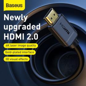 Baseus Kabel HDMI ke HDMI 2.0 Gold Plated 4K Laser Image Quality 5M - CAKGQ-D01 - Black