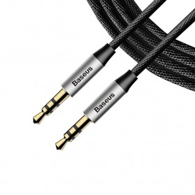 Baseus Yiven Kabel Audio AUX 3.5mm Male to Male 1.5 Meter - CAM30-CS1 - Silver - 2