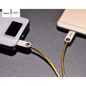 Hoco Zinc Alloy Metal Lightning Charging Cable - U8 - Silver - 2
