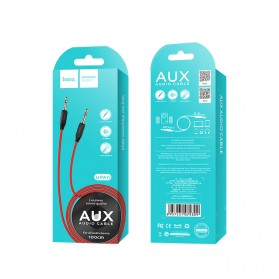 HOCO Kabel Audio AUX 3.5mm Male to Male 1 Meter - UPA11 - Black - 8