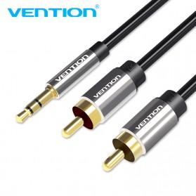 Vention Kabel 3.5mm Male ke 2 RCA Male HiFi - 1M - BCFBF - Black