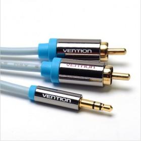 Vention Kabel 3.5mm Male ke 2 RCA Male HiFi - 1M - BCFBF - Blue - 2