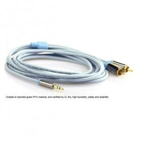 Vention Kabel 3.5mm Male ke 2 RCA Male HiFi - 1M - BCFBF - Blue - 6