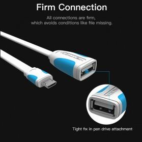 Vention Kabel OTG Micro USB to USB 2.0 L Shape 10cm - Black - 3