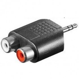 RCA Female to Male Aux Adapter 3.5mm - Black