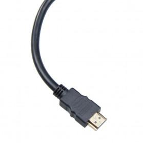 HDMI Splitter Gold Plated 0.3m 2 Port Female - XH1023 - Black - 2