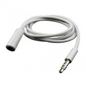 Overfly Kabel AUX HiFi Audio Cable 3.5mm Male to Female - AV118 - White - 6