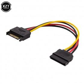 XZT Kabel SATA Power 15 PIN Famale ke Male 0.5 Meter - 2