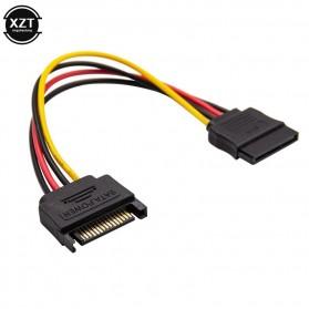 XZT Kabel SATA Power 15 PIN Famale ke Male 0.5 Meter - 3