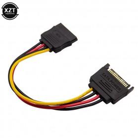 XZT Kabel SATA Power 15 PIN Famale ke Male 0.5 Meter - 4