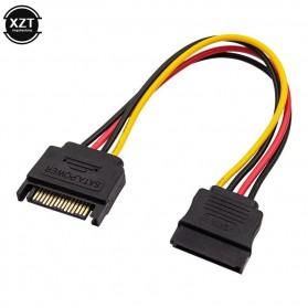 XZT Kabel SATA Power 15 PIN Famale ke Male 0.5 Meter - 5