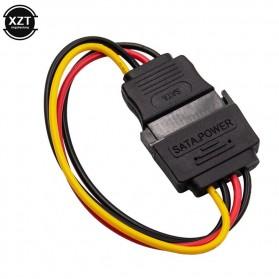 XZT Kabel SATA Power 15 PIN Famale ke Male 0.5 Meter - 6