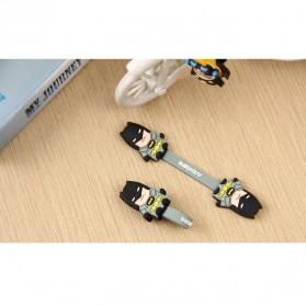 Batman Style Earphone Cable Organizer - Black