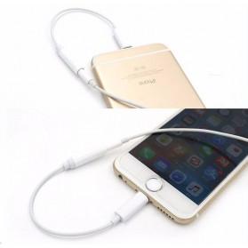 Kabel Lightning ke 3.5mm Headphone for iPhone 7/8/X - White - 5