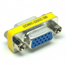 ONLENY Adapter VGA 15 Pin Female to Female Mini Gender Changer - S-PC-0420 - 2