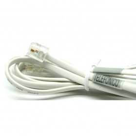 Kabel Telepon RJ11 - 1.5m - White - 3