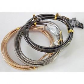 Kabel Charger Micro USB Metal Cable - Gray - 4