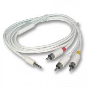 Kabel 3.5mm Male ke 3 RCA Male 1.5M - White