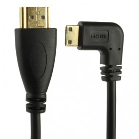 HDMI to Mini HDMI Male to Male Spring Cable up to 2m - Black - 2