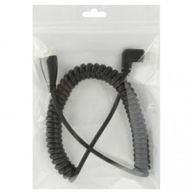HDMI to Mini HDMI Male to Male Spring Cable up to 2m - Black - 3