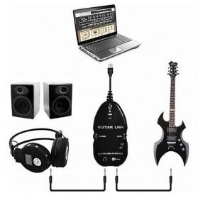 Kabel Link Gitar ke USB - AY07 (Replika 1:1) - Black - 4