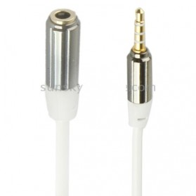 Ult-Best  HiFi Aux Audio Coil Cable 3.5mm Male to Female - ZHY43938 - White - 2