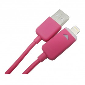 Taffware Luminous Conector Lightning 8 Pin USB Cable iOS 11 Compatible - Rose