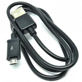 Kabel Data Micro USB 1 Meter untuk BB Sony Samsung LG Nokia HTC - V8B - Black - 2