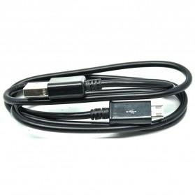 Kabel Data Micro USB 1 Meter untuk BB Sony Samsung LG Nokia HTC - V8B - Black - 4