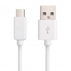 Kabel Data Micro USB 1 Meter untuk BB Sony Samsung LG Nokia HTC - V8B - White - 3
