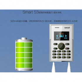 Smart S3 Credit Size Mobile Phone - Black - 6