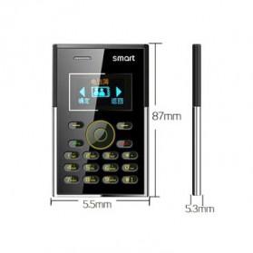 Smart S3 Credit Size Mobile Phone - Black - 8