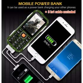 KUH T998 Handphone Multifungsi Power Bank - Black Gold - 13