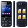 SERVO V9500 Handphone 4 SIM Card - Black