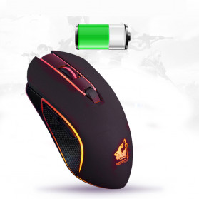 Carprie Mouse Gaming Wireless USB Rechargeable 2400 DPI - X9 - Black