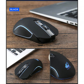 Carprie Mouse Gaming Wireless USB Rechargeable 2400 DPI - X9 - Black - 2