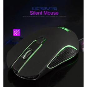 Carprie Mouse Gaming Wireless USB Rechargeable 2400 DPI - X9 - Black - 4