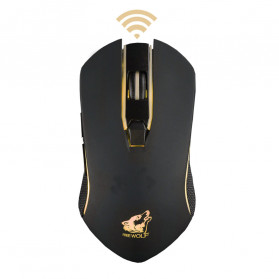 Carprie Mouse Gaming Wireless USB Rechargeable 2400 DPI - X9 - Black - 6